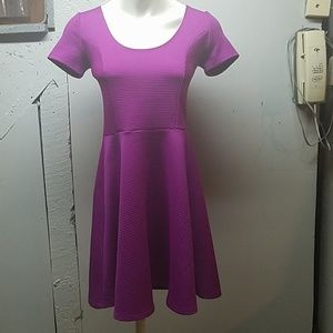 Forever 21 purple ribbed a line dress small